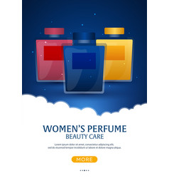 Perfume bottle womens perfume beauty care vector