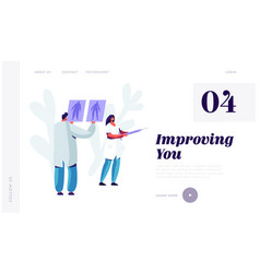 plastic surgery doctor in white robe learning vector image