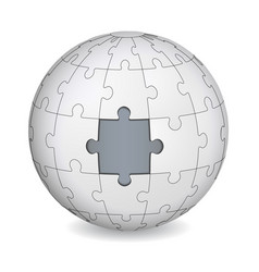 puzzle land with gray the middle vector image