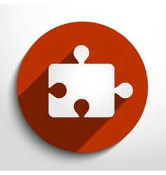puzzles piece web flat icon vector image
