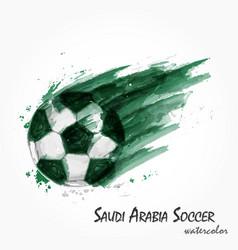 realistic watercolor painting of saudi arabia vector image