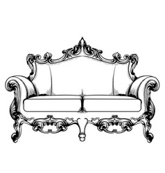 royal couch baroque classic imperial vector image