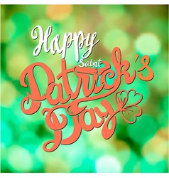 Saint Patrick day lettering design vector image