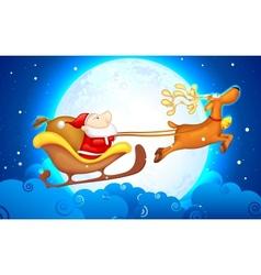 Santa in Sledge vector