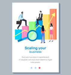 scaling your business landing page template vector image