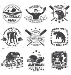 Set american football and baseball club badge vector