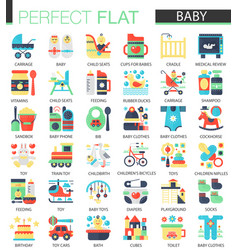 set flat bakid icons vector image