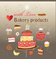 set of different baking vector image