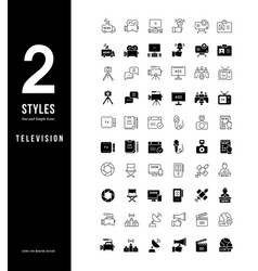simple line icons television vector image
