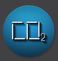 Single carbonic acid icon vector