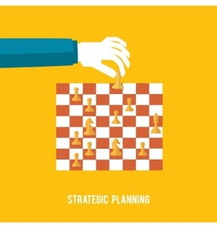 Strategy planning concept vector image
