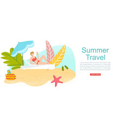 summer travel vacation to tropical sea islands vector image