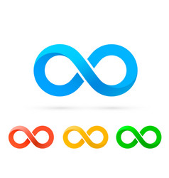 Symbol infinity art info color set collection vector