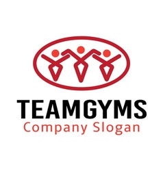 Team Gyms Design vector image