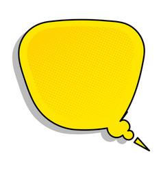 text bubble background comic book pop art vector image