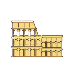 the colosseum icon for italian language online vector image