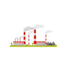 Thermal power station industrial buildings and vector