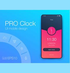 timer clock application ui design concept ux vector image
