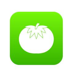 tomato icon digital green vector image