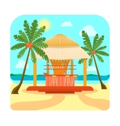 Tropical Beach Bar Summer Holiday or Vacation vector image