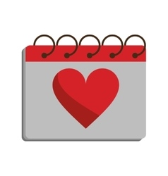 Valentine day calendar love heart date vector