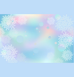 winter snowflakes background blue vector image