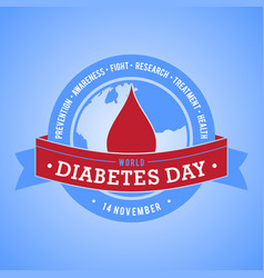 world diabetes day with blood vector image