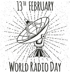 World Radio Day vector image