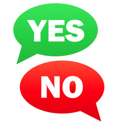 yes and no icon simple vector image