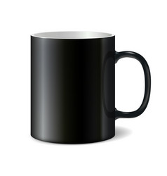 Black big ceramic cup for printing corporate logo vector image vector image