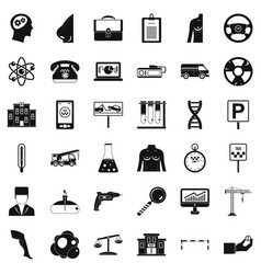 Business day icons set simple style vector