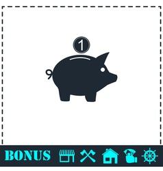 Moneybox icon flat vector image