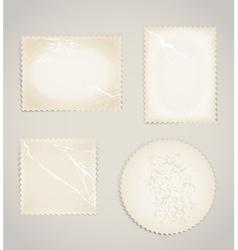 Vintage scratched post stamps template clip-art vector image