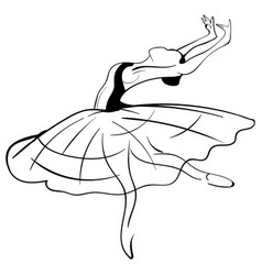 beautiful drawing ballerina sketch vector image