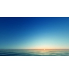 Beautiful Sunset at the seaside vector image vector image