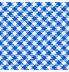 blue and white seamless checkered tablecloth vector image vector image
