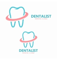 dental logo design Dental clinic logo vector image vector image