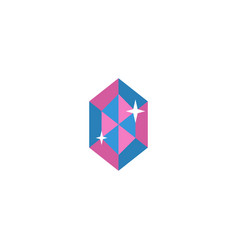 flat icon crystal element of vector image