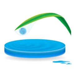 icon wave drop vector image vector image