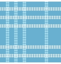 Seamless railroad background vector image