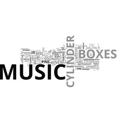 a comparison of disc music boxes and cylinder vector image