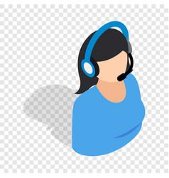 female consultant isometric icon vector image vector image