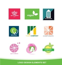 Logo icon design elements set vector