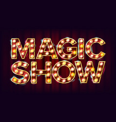 magic show banner sign for arts festival vector image