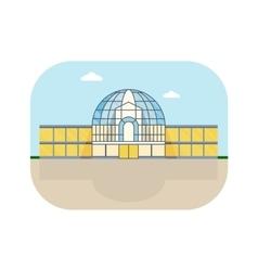 shopping center round facade vector image