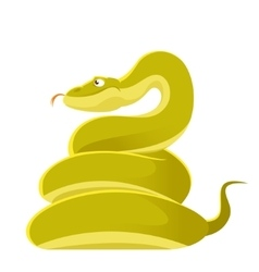 Smiling cartoon snake vector image