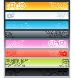 technological circuitry web banners vector image vector image