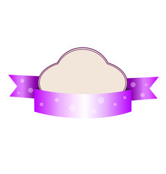 cute violet tender baby style template wth banner vector image