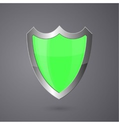 Metal surround shield on a dark background vector image