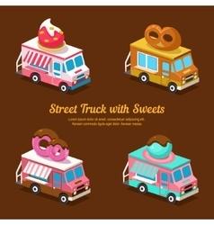 Sweets Food Truck sweet isometric vector image vector image
